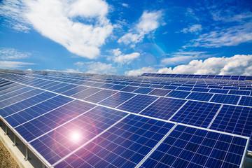 電気工事のひとつである太陽光発電システムの写真