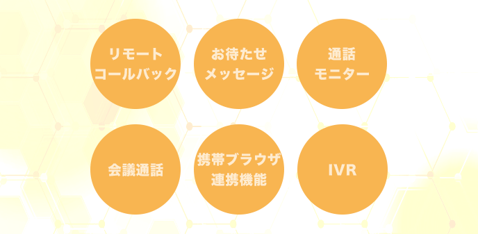 ビジネスフォンの様々な機能