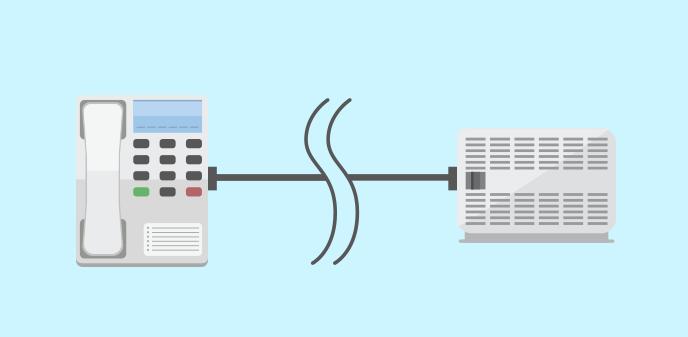 ビジネスフォンの本体だけなら、配線とつなげるだけで交換が完了